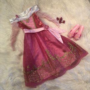 Authentic Disney's princess Arora dress and shoes